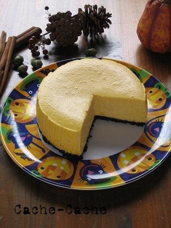バターナッツかぼちゃのチーズケーキ♪  キッチンで猫と・・・