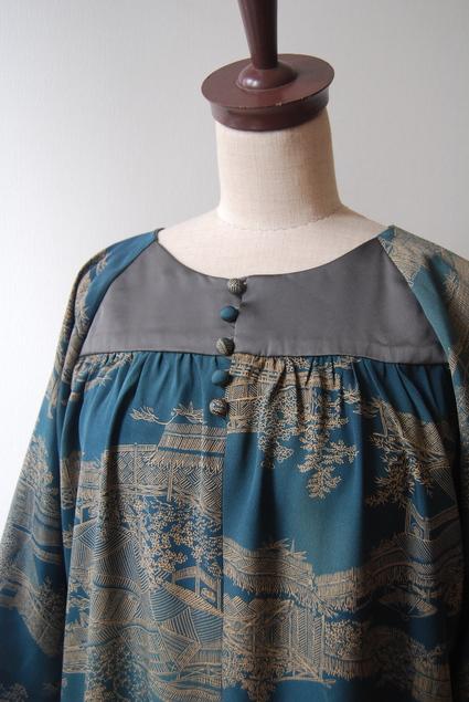 着物リメイク・羽織からラグランワンピース_d0127925_18541674.jpg
