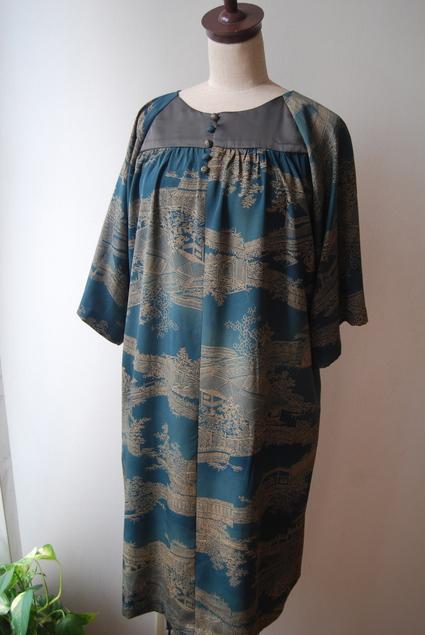 着物リメイク・羽織からラグランワンピース_d0127925_18544197.jpg