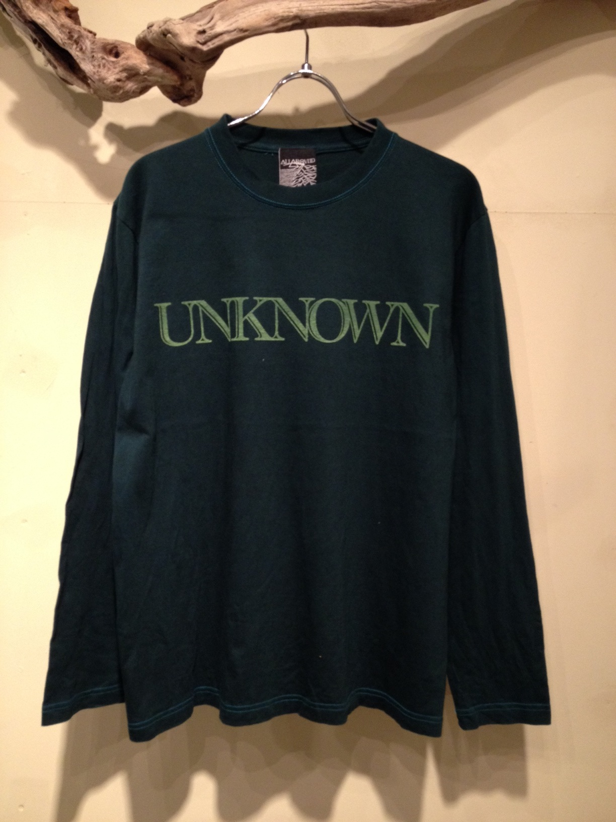 """L/S Tee \""""UNKNOWN\"""" OVER DYE Ver_f0126931_16574682.jpg"""