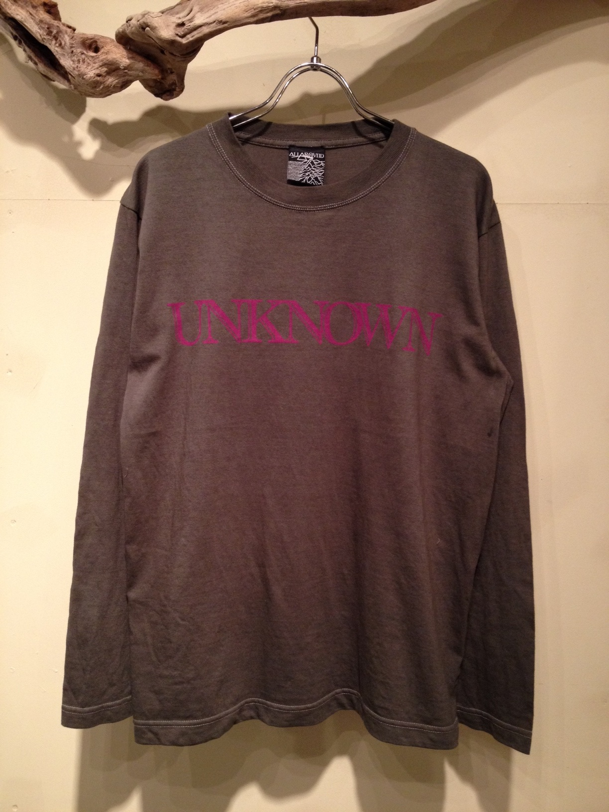 """L/S Tee \""""UNKNOWN\"""" OVER DYE Ver_f0126931_16574772.jpg"""