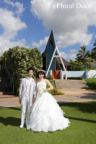 ハワイのおふたりに 花冠&リストレットとお揃いのリングピロー_b0113510_20342879.jpg