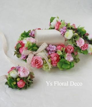 ハワイのおふたりに 花冠&リストレットとお揃いのリングピロー_b0113510_20344888.jpg