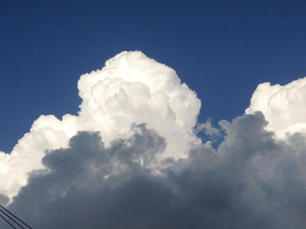 今日の雲~ちょっと夏っぽく^^~_b0298740_23375688.jpg