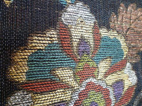 手織袋帯 イタリー聖花文_d0159384_161921.jpg