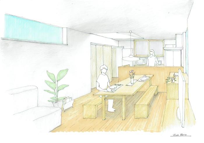 ワクワクするような手描きパース_b0349892_07234511.jpg