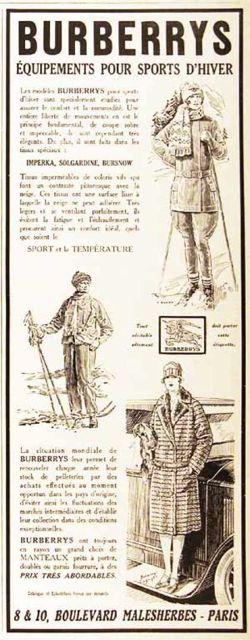 "\""1926 Burberry\'s Winter Fashion / vintage advertisement\""ってこんなこと。_c0140560_9202517.jpg"