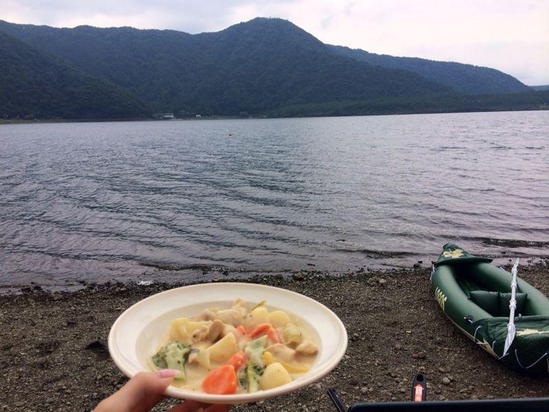 西湖キャンプ2日目☆カヤック!_c0151965_13243094.jpg