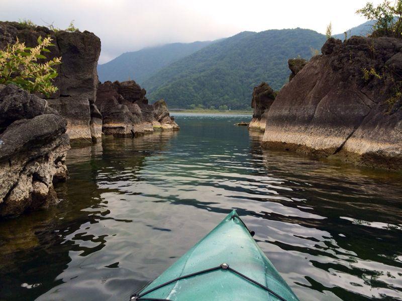 西湖キャンプ2日目☆カヤック!_c0151965_13243553.jpg