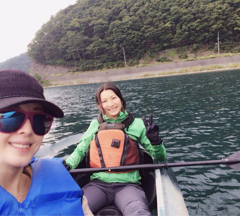 西湖キャンプ2日目☆カヤック!_c0151965_13243647.jpg