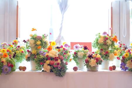 秋の装花 草花で、明るく楽しい結婚式の花に 幕張オレアジ様へ_a0042928_2141611.jpg