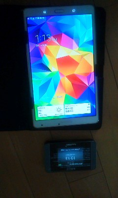 WIFIルーターとタブレット端末、PHSを100円で購入しました_d0057733_14585015.jpg