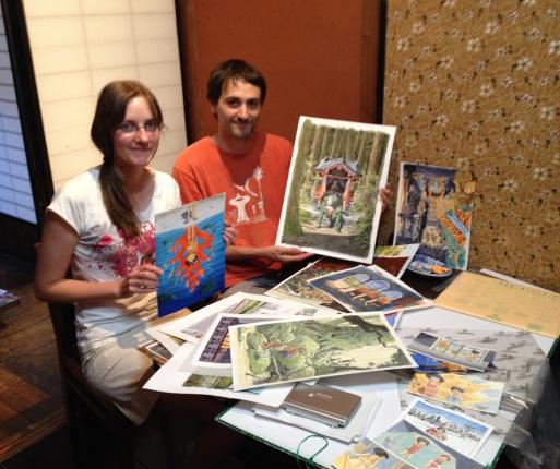 セシルさんとオリビエさんがやってきました。フランス若手アーティスト展_d0178448_10042049.jpg