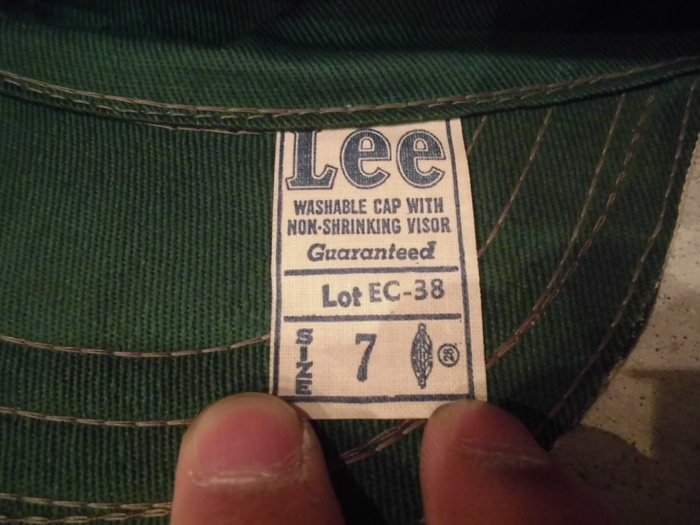 DEAD STOCK Lee Engineer Cap (NOS)_e0187362_11201736.jpg