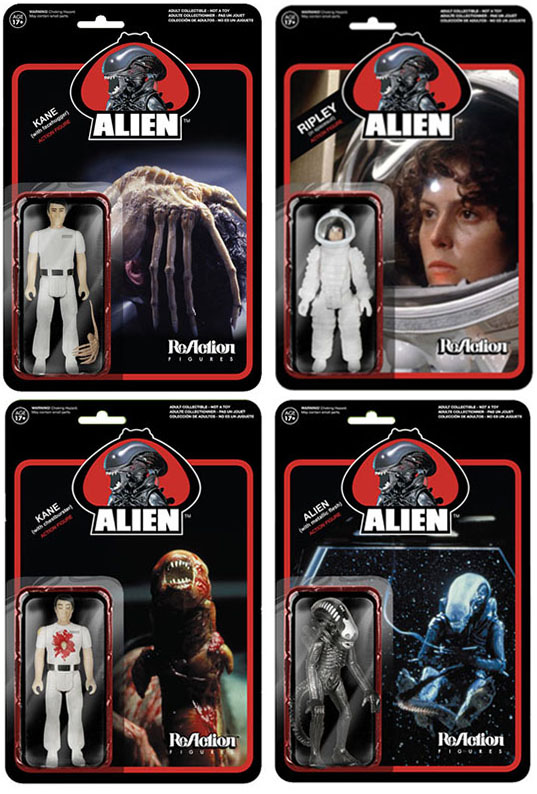 Alien 3.75-Inch ReAction Figures full set of all 4 characters_e0118156_23112665.jpg