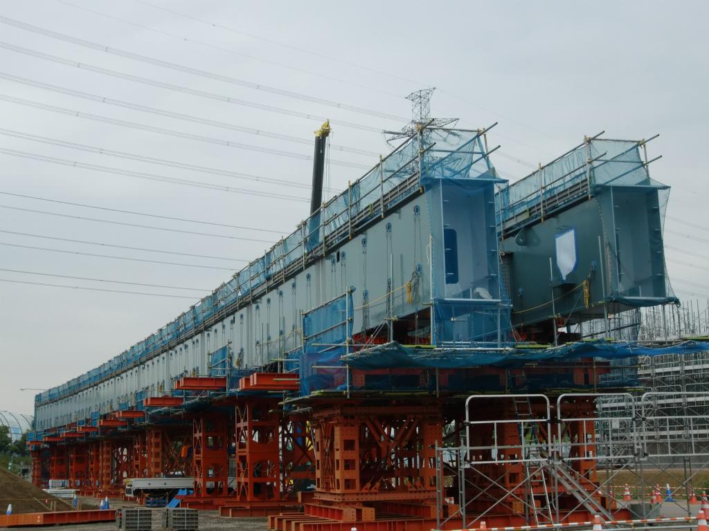 南三間Dランプ橋一括架設工事(準備中)!_d0172802_14134367.jpg