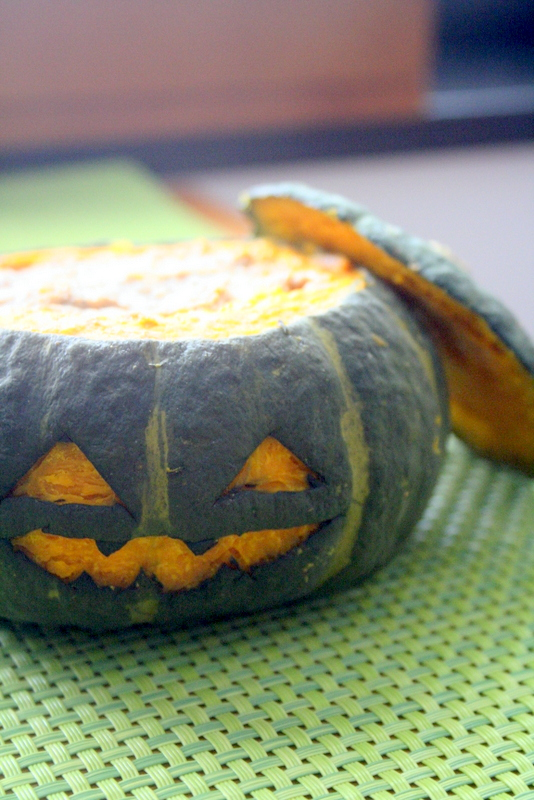 ハロウィンデコ・・・そのままかぼちゃのハンバーグ_f0141419_08130154.jpg