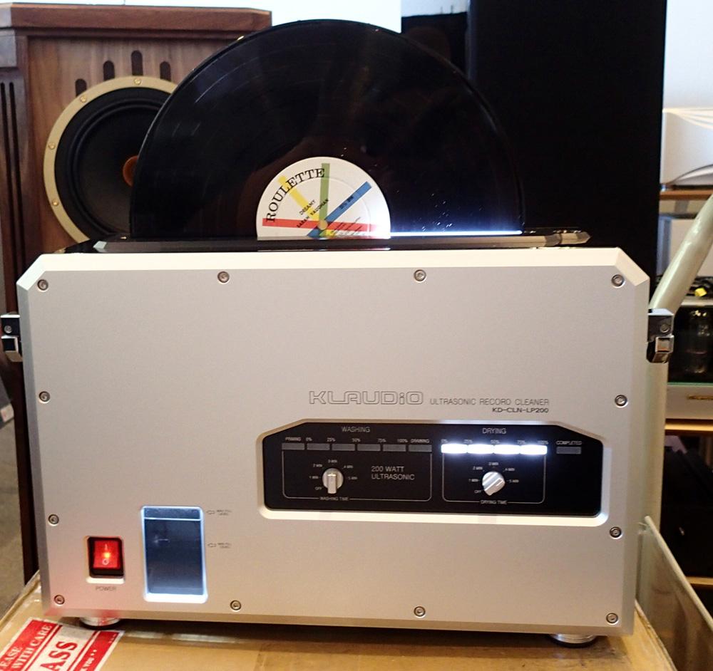 KLAUDiO CLN-LP200 超音波レコードクリーナーのデモ機を使ってみました。_b0262449_1683075.jpg