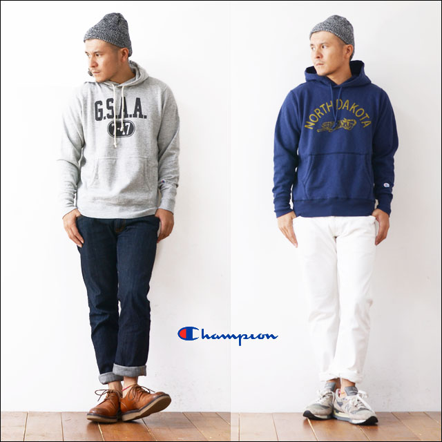 CHAMPION [チャンピオン] PULLOVER HOODED SWEATSHIRT [C3-E110] MEN\'S_f0051306_20373583.jpg