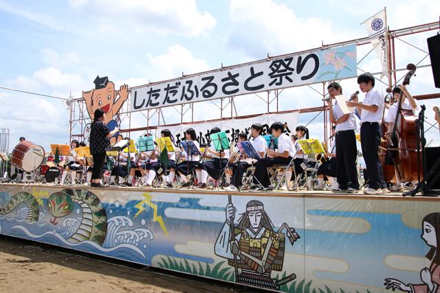 しただふるさと祭り・下田中学校吹奏楽部_a0267861_18261717.jpg