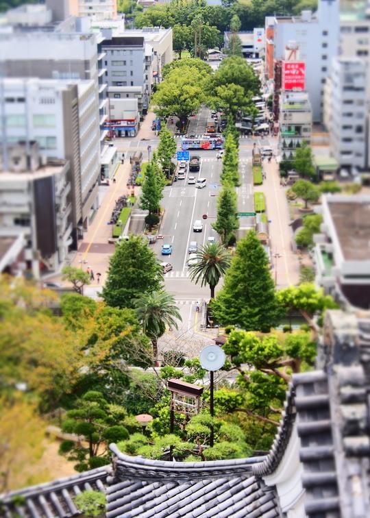 高知城と路面電車_f0266284_22513528.jpg