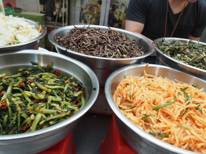 2014 9月 ソウル (9) もりもり野菜のポリパ@広蔵市場 _f0062122_15544277.jpg