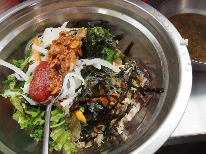 2014 9月 ソウル (9) もりもり野菜のポリパ@広蔵市場 _f0062122_15583584.jpg