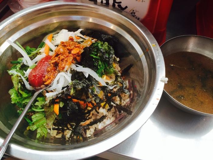2014 9月 ソウル (9) もりもり野菜のポリパ@広蔵市場 _f0062122_162468.jpg