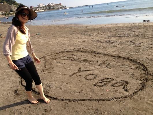 Beach yoga らぶ♥_a0267845_20221060.jpg