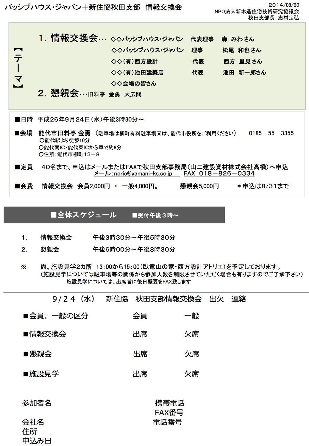 パッシブハウス・ジャパン+新住協秋田支部 情報交換会_e0054299_16231197.jpg