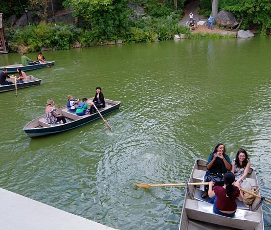 初秋のセントラルパークから、手漕ぎボートの湖_b0007805_1224884.jpg