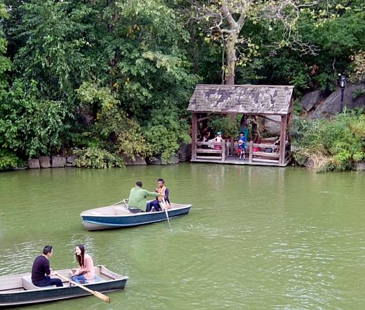初秋のセントラルパークから、手漕ぎボートの湖_b0007805_1231640.jpg