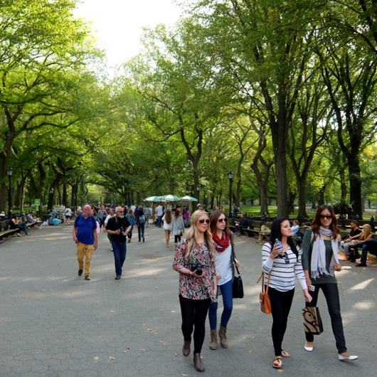 初秋のセントラルパークの巨大な並木道 The Mall_b0007805_2130262.jpg