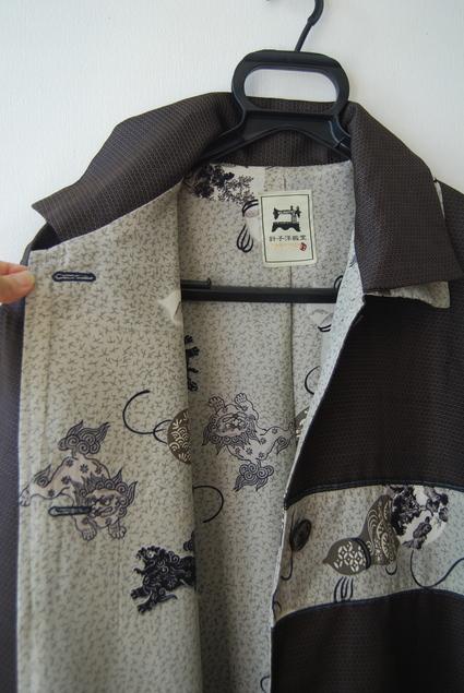 着物リメイク・男物大島で作ったロングコート_d0127925_0295186.jpg