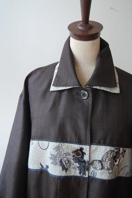 着物リメイク・男物大島で作ったロングコート_d0127925_0304334.jpg