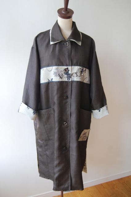 着物リメイク・男物大島で作ったロングコート_d0127925_031565.jpg