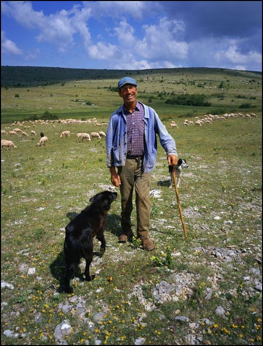 ホロゴンさんの羊飼いと私の羊飼いのおじさんと犬_a0031363_2352487.jpg