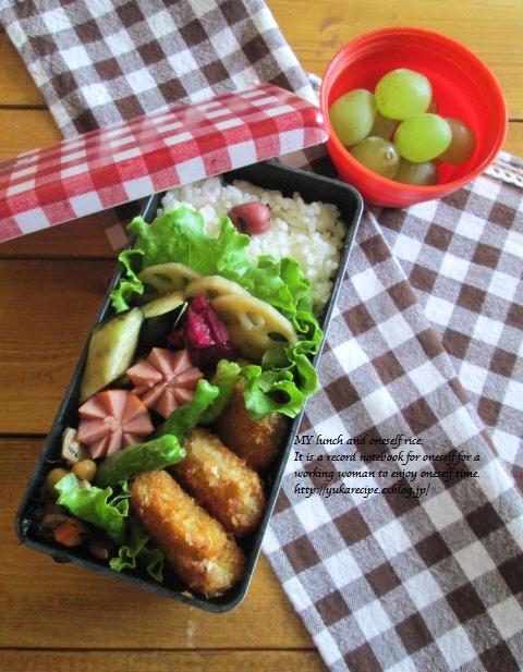 9.24 レンコンの豚肉巻フライのお弁当とお嫁入り♪_e0274872_18285712.jpg