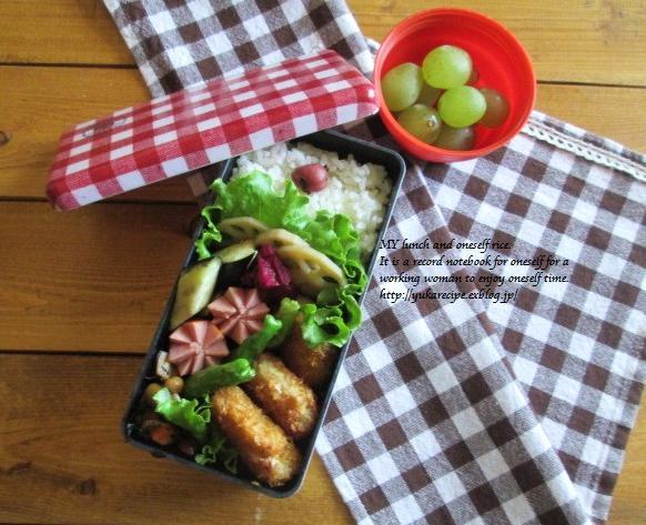 9.24 レンコンの豚肉巻フライのお弁当とお嫁入り♪_e0274872_18290409.jpg