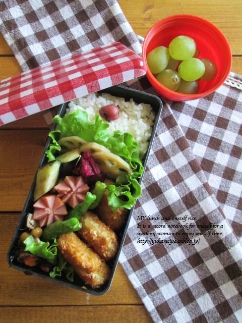 9.24 レンコンの豚肉巻フライのお弁当とお嫁入り♪_e0274872_18290897.jpg