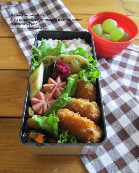 9.24 レンコンの豚肉巻フライのお弁当とお嫁入り♪_e0274872_18291246.jpg