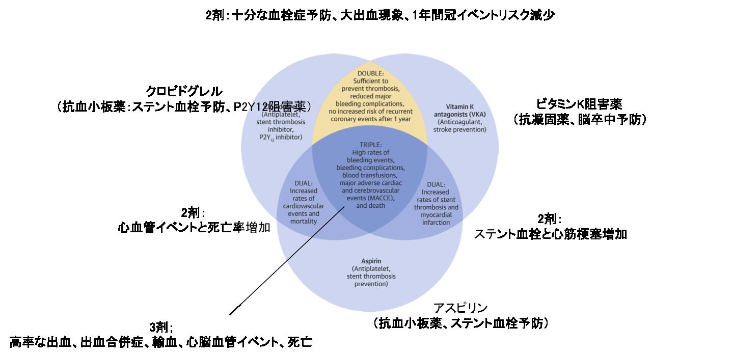 心房細動+ステント治療における抗血栓療法についての総説:JACC誌_a0119856_23133115.png