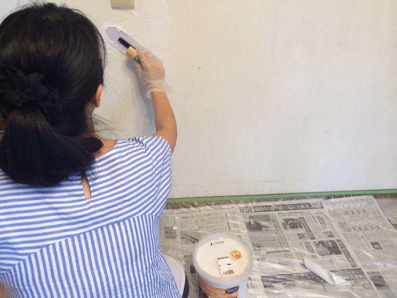 ダイニングの壁塗り_e0233674_18305734.jpg