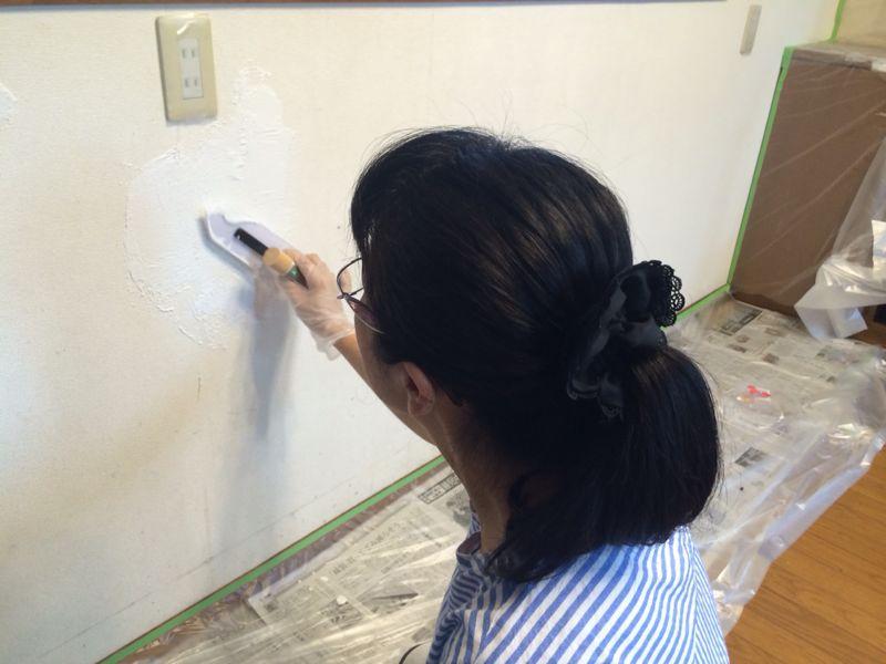ダイニングの壁塗り_e0233674_1830576.jpg