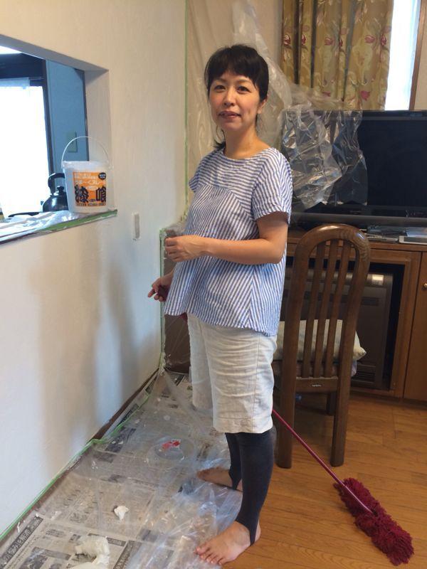 ダイニングの壁塗り_e0233674_18305915.jpg