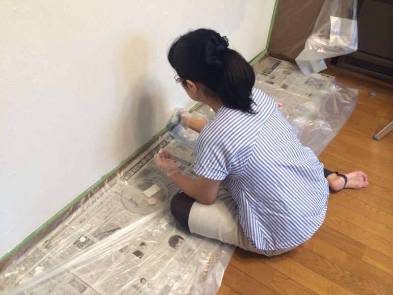 ダイニングの壁塗り_e0233674_18305954.jpg