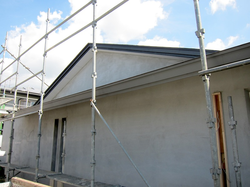 140926 外壁モルタル塗り_f0138807_20323112.jpg