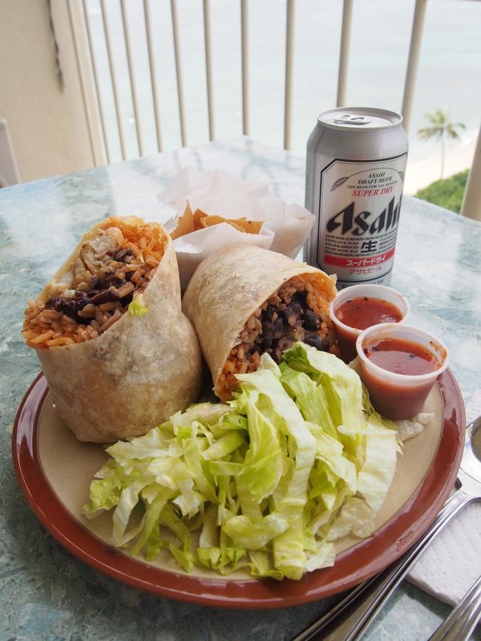 2014 9月 ハワイ (5)  ラナイでMauii Tacos のブリトーをがぶり_f0062122_10182750.jpg