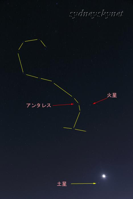 月、火星、土星 そしてアンタレス_f0084337_20545204.jpg