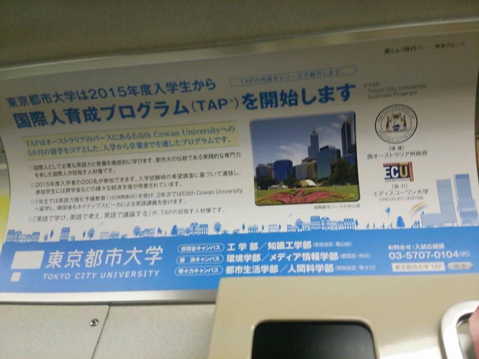 東京都市大学の国際人育成プログラムTAP_f0138645_8282894.jpg